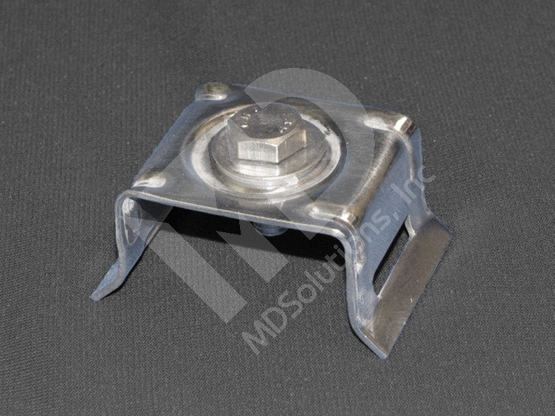 Threaded Strapping Bracket with Flared Legs