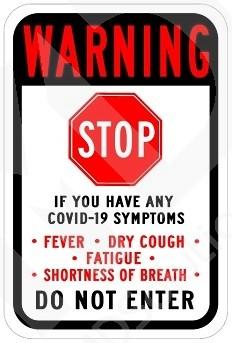 COVID-19 Warning Stop