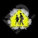 Solar School Zone Crossing Sign