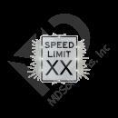 Solar Speed Limit Sign