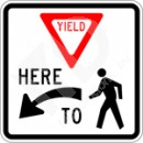 R1-5 Yield Here to Peds (Symbol) Sign