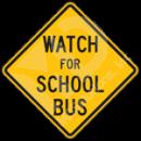 S3-3 School Bus Stop Ahead Sign
