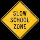 S3-5 Slow School Zone Sign