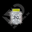 Solar School Speed Limit Sign