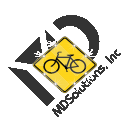 Solar Bicycle Crossing Sign