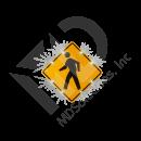 Solar Pedestrian Crossing Sign