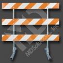 Type III Barricade - Metal Frame